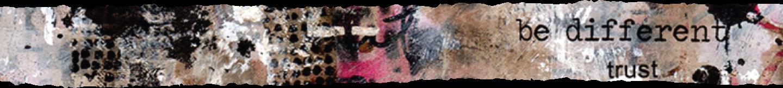close-up of a mixed media art piece