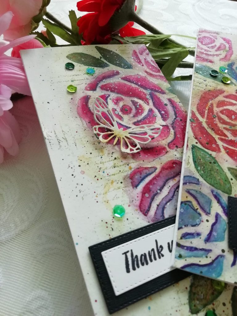 close up of Thank You card number one