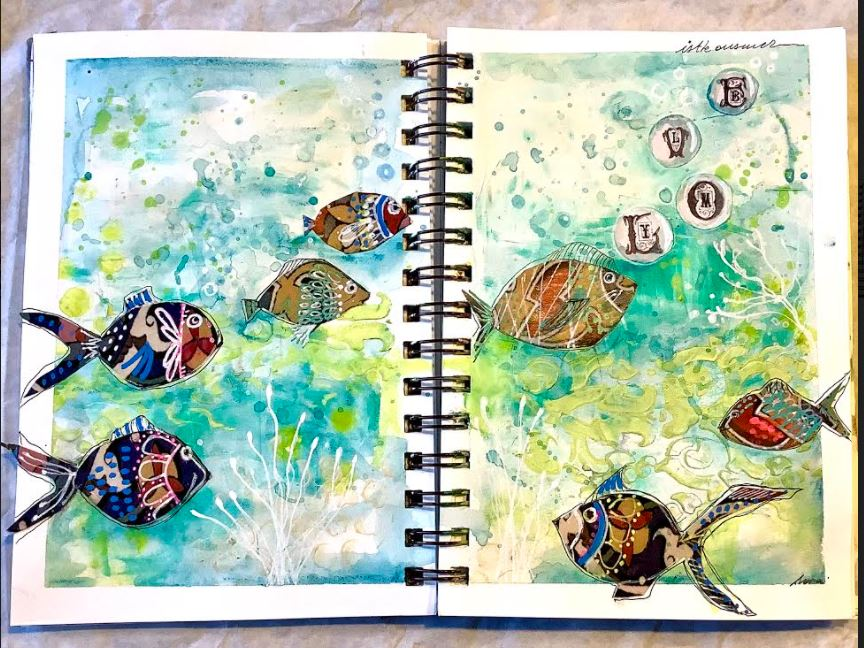 full layout journal page