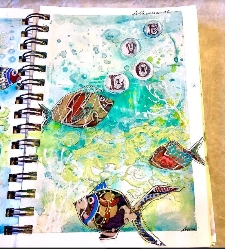 right side art journal