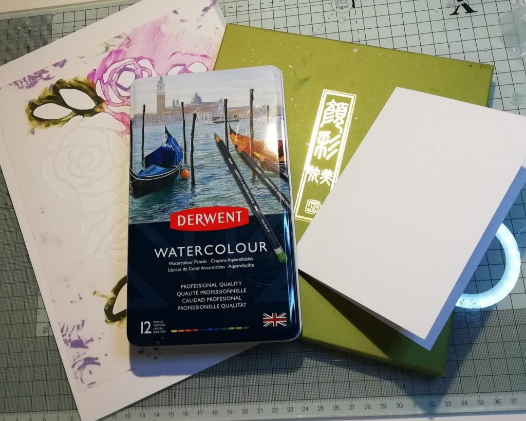 Supplies used for thank you cards
