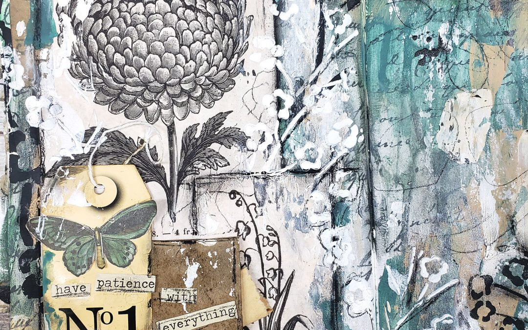 Creating a pocket mixed media journal page