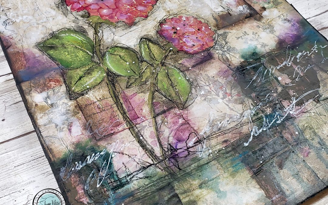 Finding rest mixed media floral Sunday inspiration 6-6-21