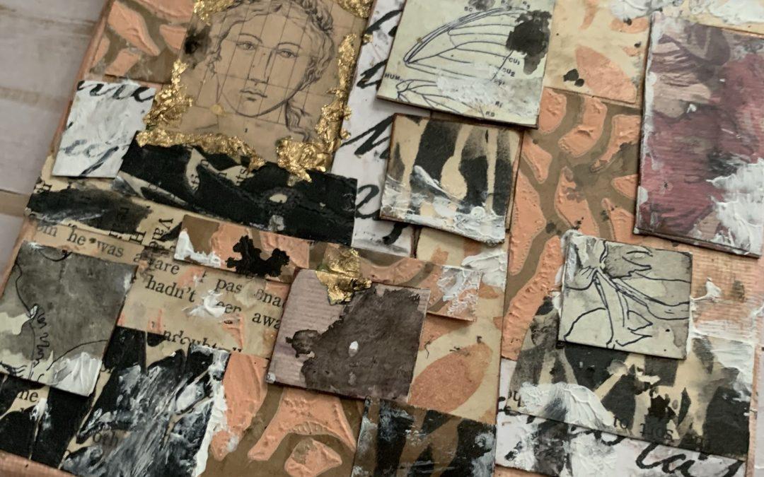 Mixed Media Mosaic Canvas